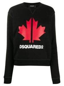 Dsquared2 maple leaf sweatshirt - Black