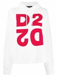 Dsquared2 logo hoodie - White