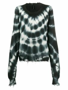 Unravel Project tie-dye oversized jumper - Grey