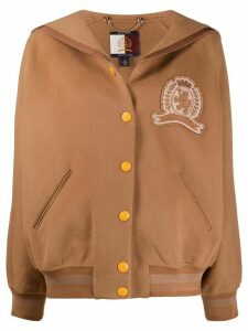 Hilfiger Collection sailor-collar felt bomber jacket - Brown