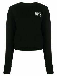 Unravel Project logo long-sleeve sweatshirt - Black