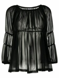 Comme Des Garçons Comme Des Garçons tiered loose-fit blouse - Black