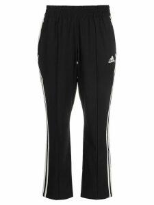 adidas cropped three-stripe trousers - Black