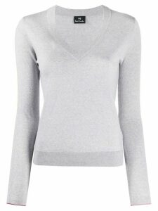 PS Paul Smith slim-fit V-neck pullover - Grey