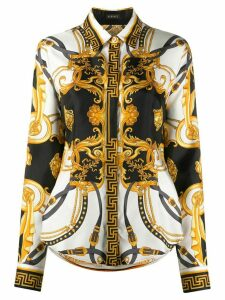 Versace baroque print shirt - White