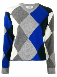 Pringle of Scotland V-neck argyle jumper - Grey