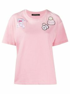 Mr & Mrs Italy Chinese New Year 2020 embroidered T-shirt - PINK
