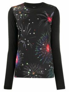 PS Paul Smith firework-print crew-neck top - Black