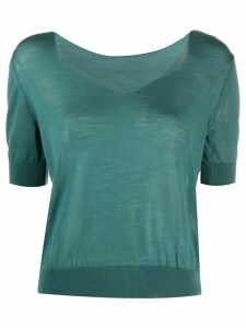 Roberto Collina v-neck jumper - Green