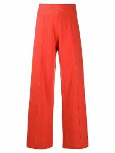 Pringle of Scotland knitted wide-leg trousers - ORANGE
