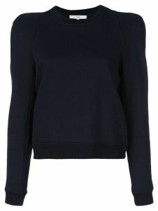 Tibi sculpted shoulder sweatshirt - Black