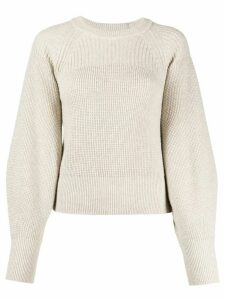 Pringle of Scotland lurex knit jumper - NEUTRALS