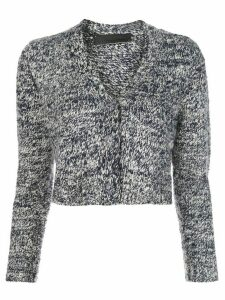The Elder Statesman long sleeve cropped cashmere cardigan - Blue
