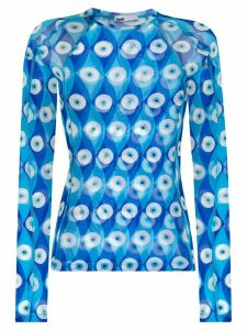 GmbH eye print rashguard top - Blue