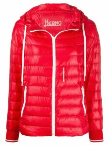 Herno hooded quilted-down jacket - Red
