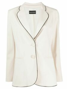 Emporio Armani piped single breasted blazer - NEUTRALS