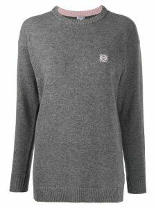 Loewe anagram knitted jumper - Grey