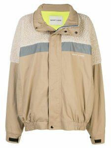 Sandy Liang Essos fleece-panelled jacket - NEUTRALS