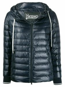 Herno hooded quilted-down jacket - Blue