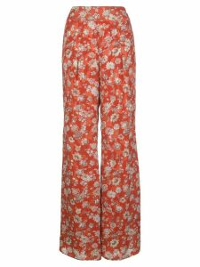 Alexis Yola floral-print wide-leg trousers - Red