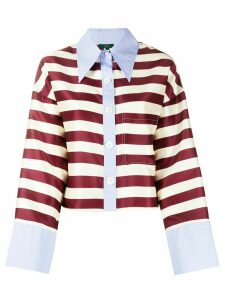 Jejia stripe print shirt - NEUTRALS