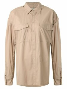 Maison Mihara Yasuhiro chest pocket shirt - Brown