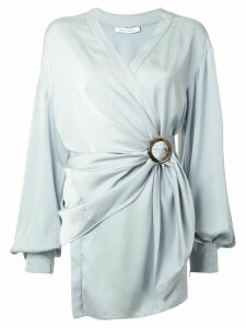 Rachel Gilbert Karo wrap-style blouse - Blue