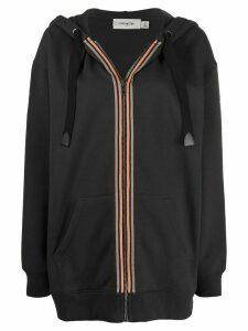Coach striped band bomber jacket - Black