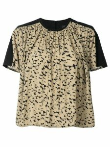 Proenza Schouler printed shortsleeved blouse - Brown