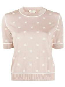 Fendi Karligraphy knitted top - NEUTRALS