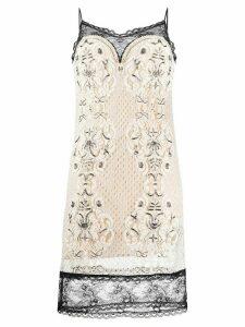 Twin-Set lace cami dress - NEUTRALS