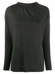 Fabiana Filippi elasticated neck jumper - Grey