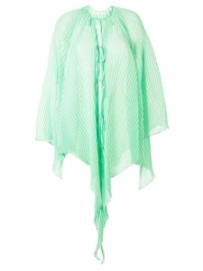 JW Anderson lightweight pleated draped top - Green