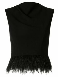 Rachel Gilbert Jade feather trimmed top - Black