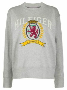 Hilfiger Collection crest-embroidered sweatshirt - Grey