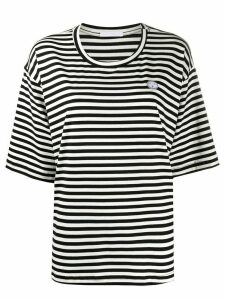 Société Anonyme striped-print oversized T-shirt - Black