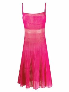Jacquemus Helado pleated knitted dress - PINK