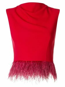 Rachel Gilbert Jade fringed hem top - Red