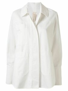 Lee Mathews concealed fastening shirt jacket - White