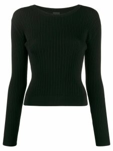 Pinko ribbed slim-fit jumper - Black