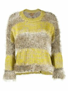 ALESSIA SANTI fringed stripe jumper - Yellow