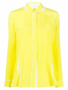 Paul Smith printed crepe de chine shirt - Yellow