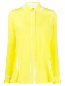 Paul Smith printed crepe de chine shirt - Yellow