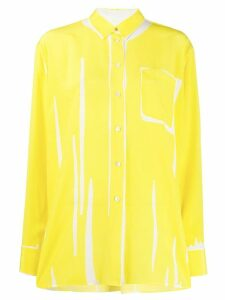 Paul Smith abstract print shirt - Yellow