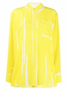 Paul Smith abstract print shirt - Yellow