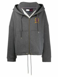Hilfiger Collection crest logo zipped hoodie - Grey