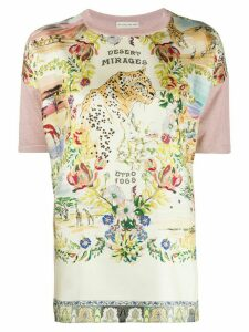 Etro Desert Mirages print knit top - PINK