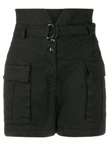 Pinko notched-waist cargo shorts - Black