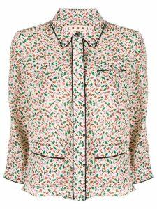Marni floral-print pyjama shirt - NEUTRALS