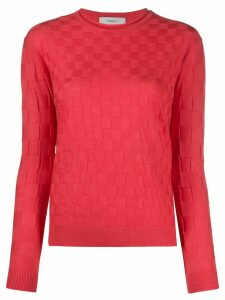 Pringle of Scotland 3d check jumper - Red